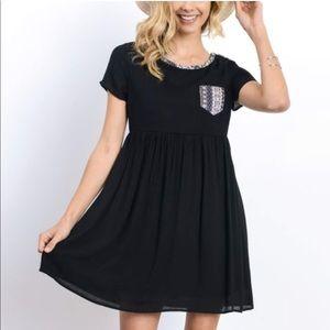 New  Doe & Rae black  dress